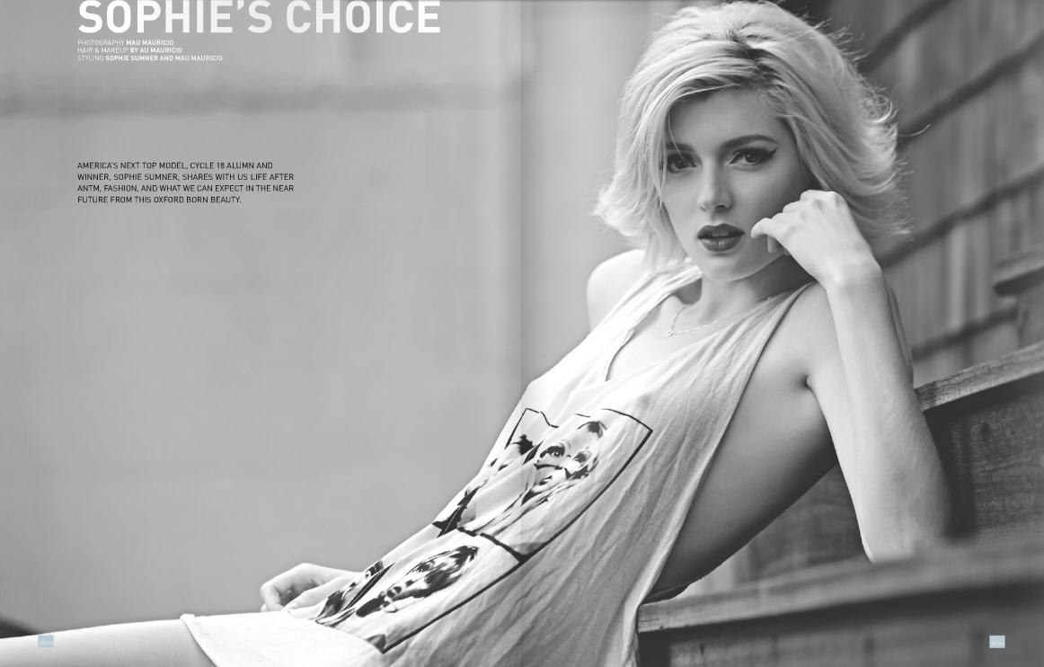 sophie sumner britain's top model